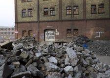 Factory ruin Royalty Free Stock Image
