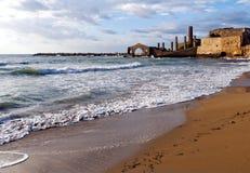 Factory ruins, Avola, Sicily (Italy) Stock Photos
