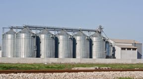 Factory's silo Stock Image