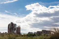 Factory in Sagunto Stock Photography