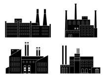 Factory set隔绝了 库存照片