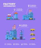 Factory set. Flat info graphic elements. Vector Stock Image