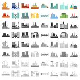 Factory set icons in cartoon style. Big collection of factory vector symbol stock illustration Stock Photography