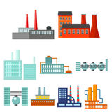 Factory set icons in cartoon style. Big collection of factory vector symbol stock illustration Royalty Free Stock Photography