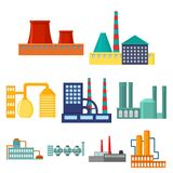 Factory set icons in cartoon style. Big collection of factory vector symbol stock illustration Stock Photos