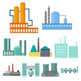 Factory set icons in cartoon style. Big collection of factory vector symbol stock illustration Stock Photo