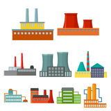 Factory set icons in cartoon style. Big collection of factory vector symbol stock illustration Stock Image
