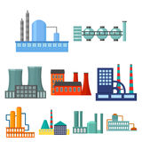 Factory set icons in cartoon style.   Stock Images