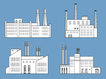 Factory set isolated. Stock Photography
