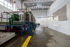 Factory shop for foam plastic production Stock Photography