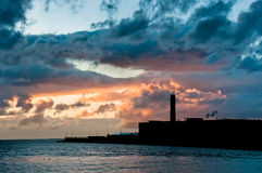 Factory silhouette with beautiful cloudscape Royalty Free Stock Photo