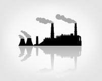 Factory silhouette. On the white background Royalty Free Stock Image