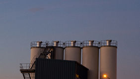 Factory silos Stock Photos