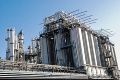 Factory Silos And Pipes Stock Image