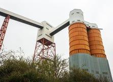 Factory Silos, Avonmouth Docks, Bristol, UK stock photo