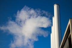 Factory smoke. Chimneys contaminate the air stock photo