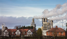 Factory Smoke Emissions Royalty Free Stock Images