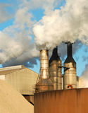 Factory Smoke Stacks Stock Photo