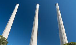 Factory Smoke Stacks Royalty Free Stock Photography
