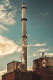 Factory smoke tower chimney Royalty Free Stock Images