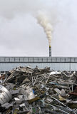 Factory with smokestack Royalty Free Stock Photography