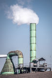 Factory smokestack. Smokestack coming out of a factory in China Stock Image