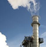 Factory smokestack with smoke Royalty Free Stock Photo