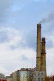 Factory smokestack tube Royalty Free Stock Photography