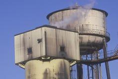 Factory smokestacks Royalty Free Stock Images