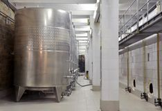 Factory of sparkling wines Stock Image
