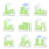 Factory stickers Royalty Free Stock Photos