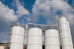 Factory Storage Tanks Royalty Free Stock Image