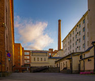 Factory street Royalty Free Stock Image