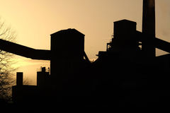Factory in the sun. Royalty Free Stock Images