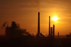 Factory sunrise Royalty Free Stock Images