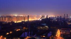 Factory sunset Royalty Free Stock Photo