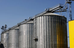 Factory tanks. Oil tanks of a biodiesel factory Stock Photo