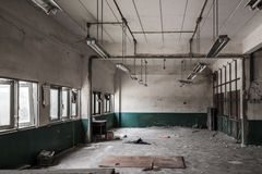 Factory is to be demolished. Room of factory is to be demolished Royalty Free Stock Images