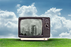 Factory tv Royalty Free Stock Photos