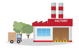 Factory. Vector for you design Royalty Free Stock Photo