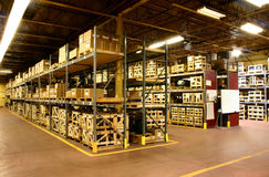Factory Warehouse. An on site factory warehouse for parts storage prior to product assembly