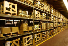 Factory Warehouse. An industrial factory's on-site warehouse Royalty Free Stock Photo