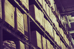 Factory warehouse Royalty Free Stock Images