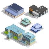 Factory Warehouse Isometric Images Set Stock Image