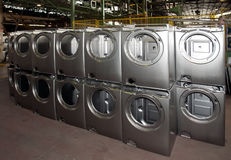 Factory: washing machine production Royalty Free Stock Photo