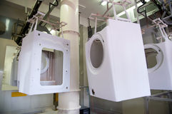 Factory: washing machine production Stock Image