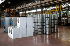 Factory: washing machine production Stock Photo