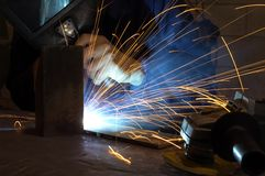 Factory welder Stock Images