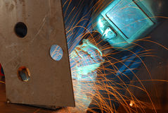 Factory welder Stock Photos