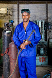 Factory welder Stock Image